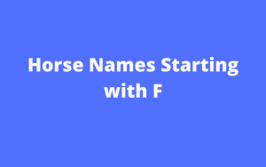 horse names starting with f