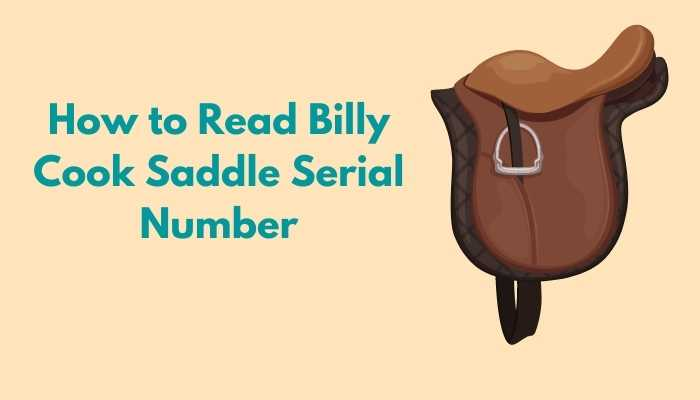 Billy Cook Saddle Serial Number