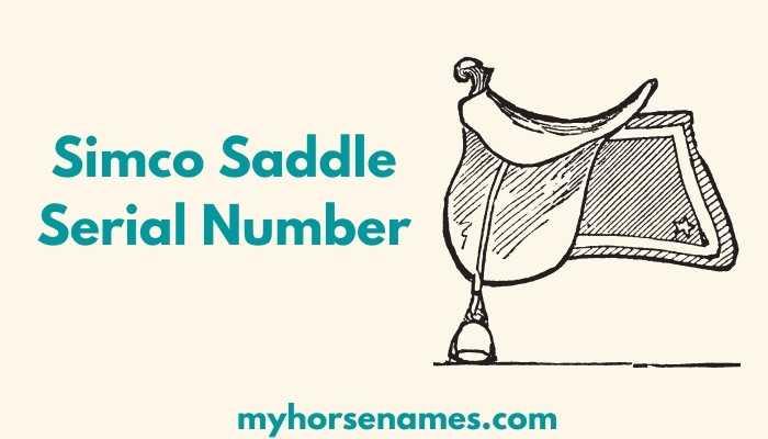 Simco Saddle Serial Number