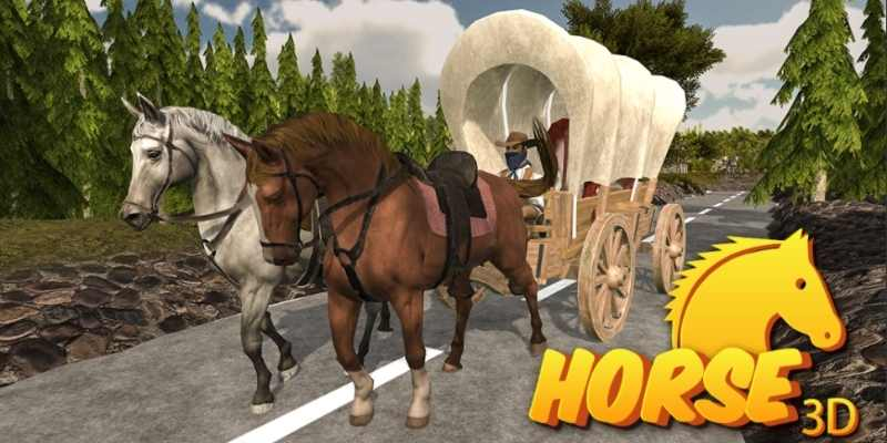 Farming Horse Carriage Transport Simulator