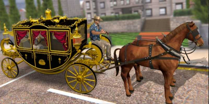 Horse Carriage Offroad Transport Game