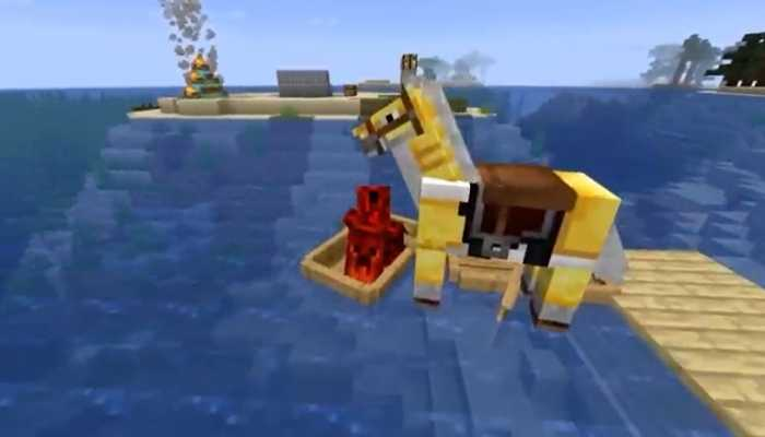 Can You Put a Horse in a Boat in Minecraft