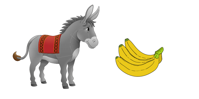 donkey-and-banana